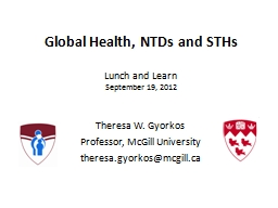 Global Health, NTDs and STHs