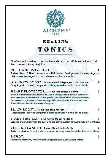 All of our tonic shots are made with our kitchen made Ker water & our
