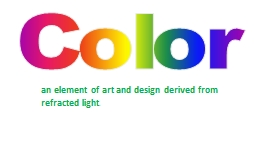 Color PowerPoint PPT Presentation
