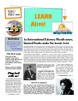 Page 2 LEARN Alive! August 2006