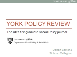 York Policy Review