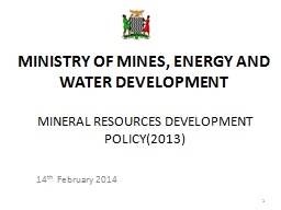 MINERAL RESOURCES DEVELOPMENT POLICY(2013)