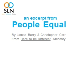 People Equal PowerPoint PPT Presentation