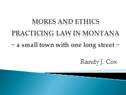 MORES AND ETHICS