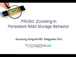 PRISM: Zooming in PowerPoint PPT Presentation