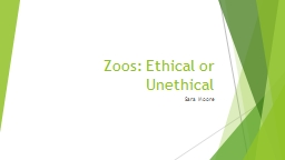 Zoos: Ethical or Unethical