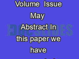 International Journal of Soft Computing and Engineering IJSCE ISSN   Volume  Issue  May   Abstract In this paper we have presented CRUD a use case patterns that is proven useful for developing mainta PowerPoint PPT Presentation
