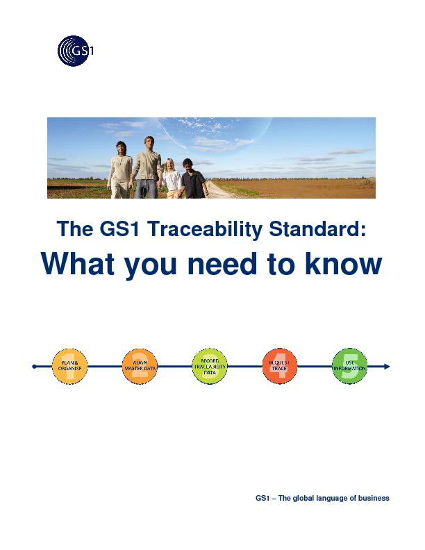 The GS1 Traceability Standard: