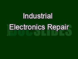 Industrial Electronics Repair