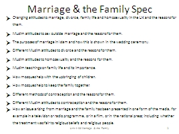 Marriage & the Family Spec