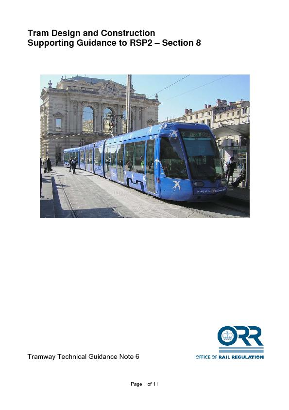 Tram Design and Construction