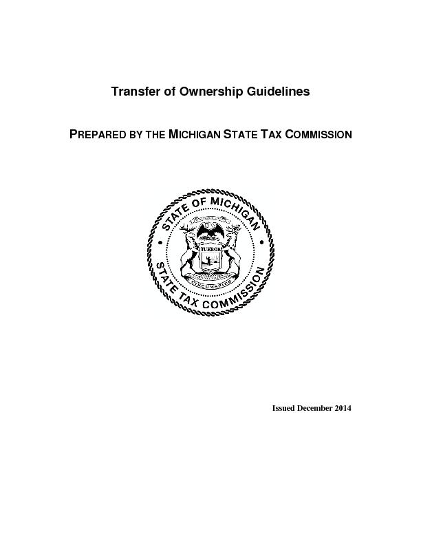 Transfer of Ownership Guidelines