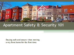 Apartment Safety & Security 101