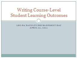 LSC-PA Faculty Development Day