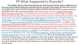 PP What Happened to Roanoke?