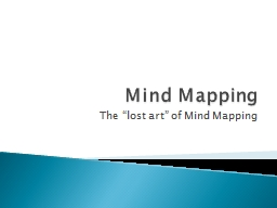 Mind Mapping PowerPoint PPT Presentation