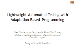 Lightweight Automated Testing with Adaptation-Based Program