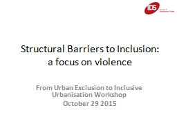Structural Barriers to Inclusion: