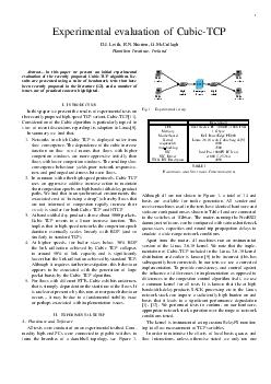 Experimental evaluation of CubicTCP D
