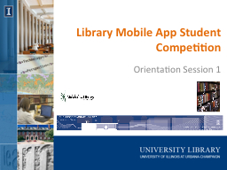 Library Mobile App Student Competition