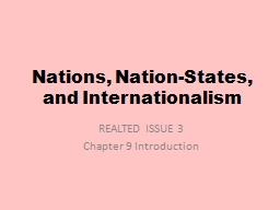 Nations, Nation-States, and Internationalism PowerPoint PPT Presentation