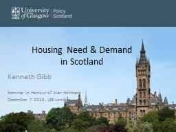 Housing Need & Demand