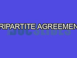 On Stamp Paper Or Franking Of Value Rs300 Tripartite Agreement