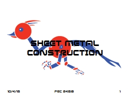 SHEET METAL CONSTRUCTION