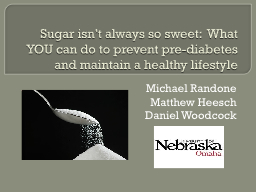 Sugar isn't always so sweet:  What YOU can do to prevent
