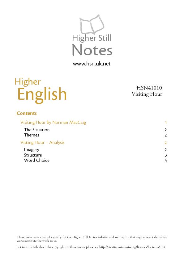 These notes were created specially for the Higher Still Notes website, PowerPoint PPT Presentation