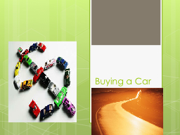 Buying a Car PowerPoint PPT Presentation