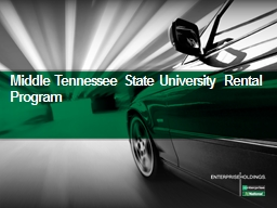 Middle Tennessee State University Rental Program