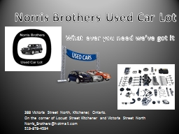 Norris Brothers Used PowerPoint PPT Presentation