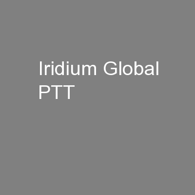Iridium Global PTT
