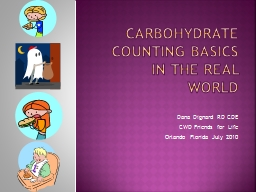 Carbohydrate Counting basics in the Real World