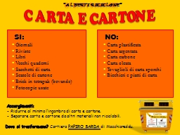 CARTA E CARTONE PowerPoint PPT Presentation
