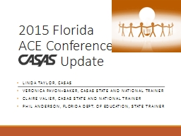 2015 Florida ACE Conference PowerPoint Presentation, PPT - DocSlides