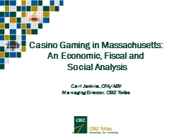 Casino Gaming in Massachusetts: PowerPoint PPT Presentation
