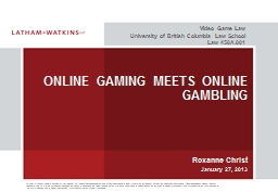 ONLINE GAMING MEETS ONLINE GAMBLING PowerPoint PPT Presentation