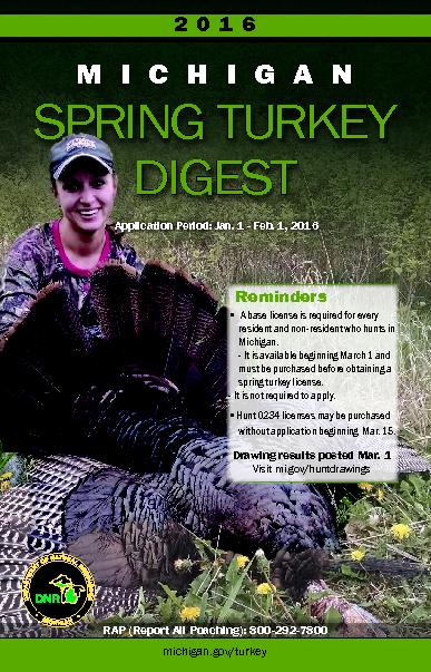 Michigan hunting and trapping digest pdf document docslides for Michigan fishing license prices
