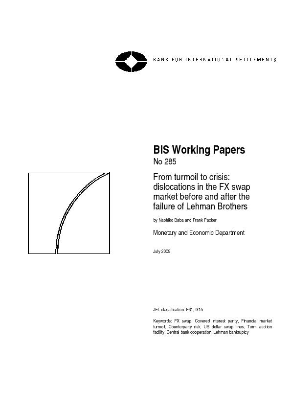 BIS Working Papers are written by members of the Monetary and Economic