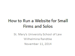 How to Run a Website for Small Firms and Solos