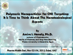 Polymeric Nanoparticles for CNS Targeting: