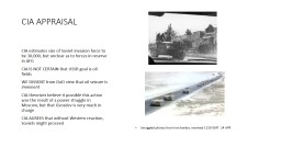 CIA APPRAISAL PowerPoint PPT Presentation