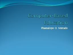 Computer-Based Education PowerPoint PPT Presentation