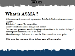 What is ASMA ?