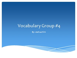 Vocabulary Group #4 PowerPoint PPT Presentation