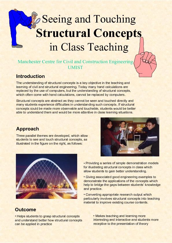 Seeing and Touching             Structural Conceptsin Class Teaching