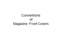 Conventions PowerPoint PPT Presentation