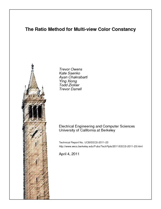 The Ratio Method for Multi-view Color Constancy